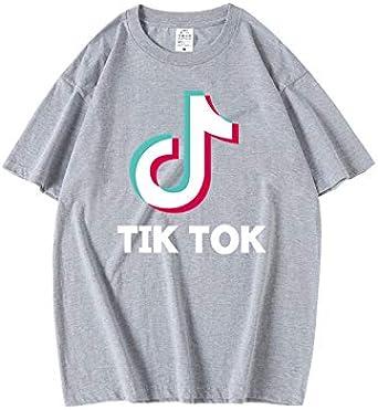 TIK Tok Camiseta De Manga Corta con Estampado De Personaje para Hombre Y para Mujer Top Sin Mangas con Cuello Redondo Camisa Informal XS como Se Muestra: Amazon.es: Ropa y accesorios