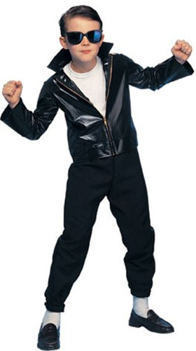 Costumes Fancy Dress Danny Grease (Greaser Child Costume)