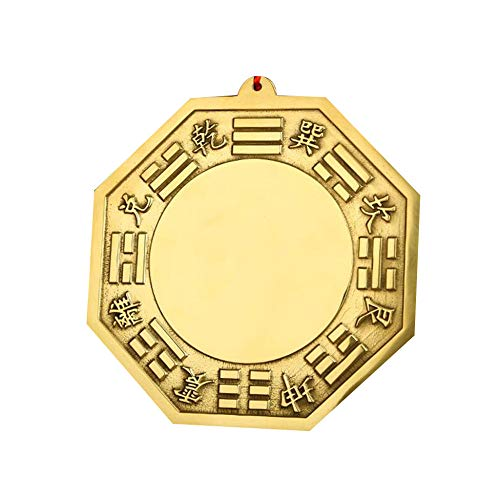 Laogg Bagua Mirror Feng Shui Copper One Convex Mirror for Protection Against Active Harmful Energy Feng Shui Trigram Mirrors for Protection and Good Luck by Mystic East