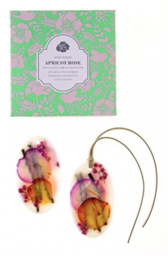 Rosy Rings Apricot Rose Oval Botanical Wax Sachet Set of 2 by Rosy Rings