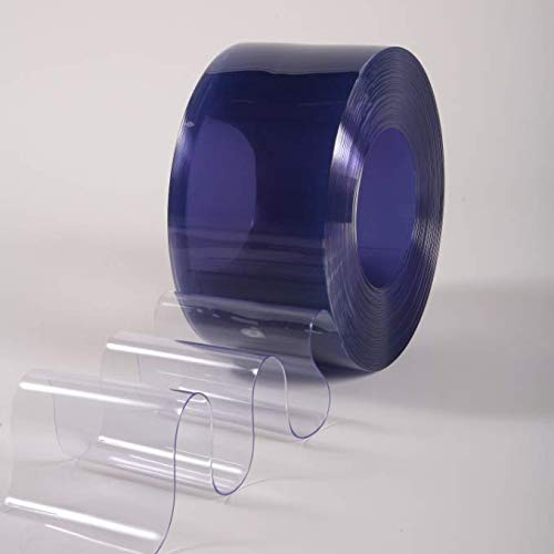 6 x .06 Clear Smooth PVC Material PVC Vinyl Strip Curtain Door Bulk Roll 75 Roll