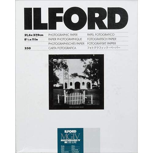 Ilford Multigrade IV RC Deluxe Resin Coated VC Variable Contrast Black & White Enlarging Paper - 8.5x11''-250 Sheets - Pearl Surface by Ilford