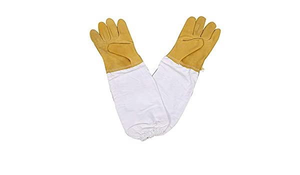 Beekeepers White Leather Gloves Size 2XL