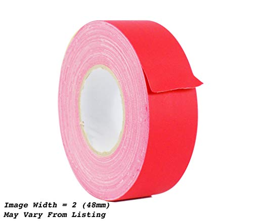 WOD CGT-80 Red Gaffer Tape Low Gloss Finish Film, Residue Free, Non Reflective Gaffer, Better than Duct Tape (Available in Multiple Sizes & Colors): 2 in. X 60 Yards (Pack of 1)