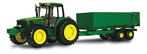 Ertl John Deere Big Farm Tractor with Wagon -  Tomy, 46077