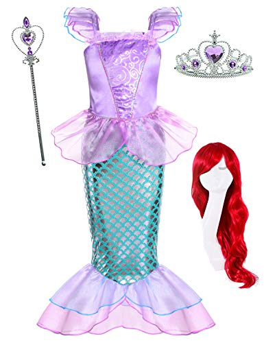 Ariel Mermaid Costume For Kids - Little Mermaid Princess Ariel Costume for