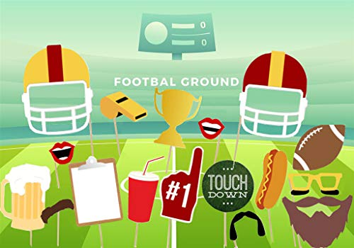 Football Party Photo Booth Props Birthday Decoration For Game