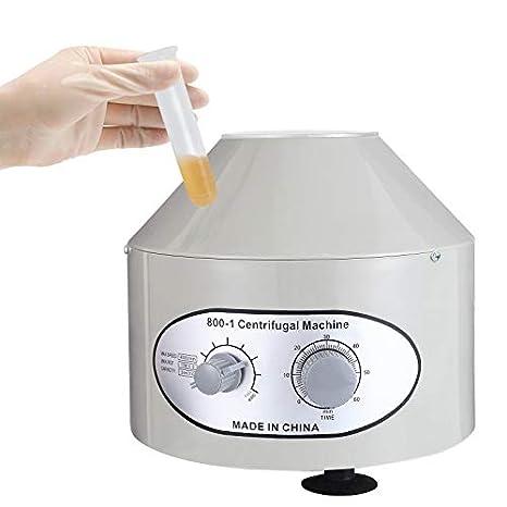 nurxiovo eléctrico baja velocidad centrífuga máquina laboratorio médico práctica 4000rpm 20 ml x 6: Amazon.es: Amazon.es