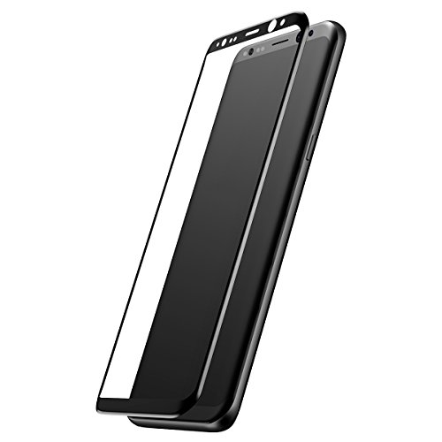 BBEART Samsung Galaxy S8 Plus Tempered Glass Film, Baseus 9H Hardness Anti-scratch Anti-fingerprint HD Screen Protector 3D Arc Tempered Glass Film For Smasung Galaxy S8/S8 Plus (Black - for S8)