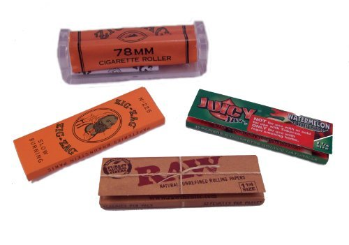 (Zig Zags, Raw Rolling Papers, Watermelon Juicy Jay's & 78mm Roller)