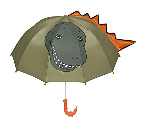 Kidorable Boys' Dinosaur Umbrella, Green, One Size