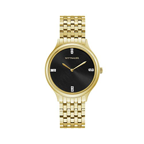 (Wittnauer Womens WN4098XG Quartz Gold-Tone Bracelet 36mm Watch (Renewed))