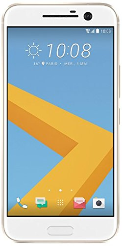 Price comparison product image HTC 10 32GB Single SIM Android Smartphone - Factory Unlocked - International Version with No Warranty (Topaz Gold)