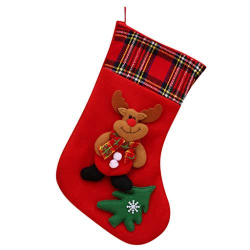 Lazapa Stockings Christmas, Santa, Snowman, Reindeer, Xmas Character 3D Christmas Decorations Accessory Gift Bag Socks (4 On 4 Off Shift Pattern Calendar)