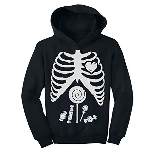 - TeeStars - Children Skeleton Candy Rib-Cage X-Ray Halloween Funny Toddler Hoodie 4T Black