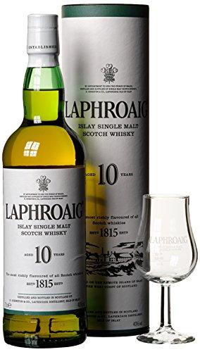 Laphroaig Islay Single Malt Scotch Whisky Geschenkverpackung mit Glas (1 x 0,7 l)