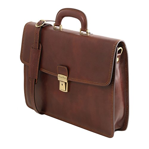 81413514 - TUSCANY LEATHER: AMALFI (N) Cartable Porte ordinateur en cuir avec 1 compartiment, noir