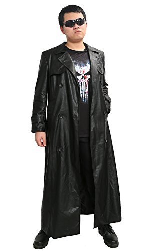 [XCOSER Punisher Trench Coat & T Shirt Costumes for Mens Halloween Cosplay XX-Large] (Punisher Outfit)
