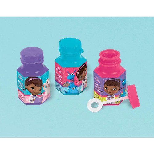 Doc McStuffins Mini Bubbles Birthday Party Toy Favours Pack (12 Pack), Multi Color, 6 oz.