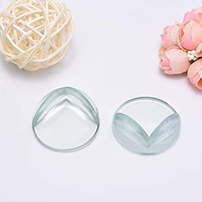 Furniture ZHIYE Baby Safety Corner Protectors 20 Pack Clear Corner Guards for Tables with 20pcs Strong Adhesive