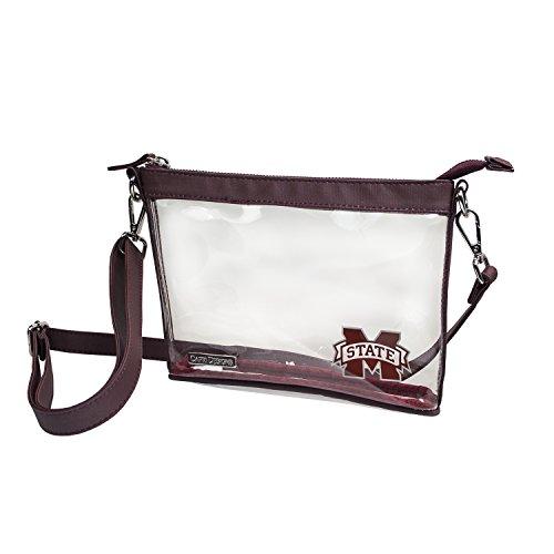 Capri Designs Clear Small Crossbody Bag Stadium Approved - MSU Bulldogs -