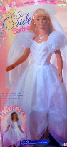 Barbie MY SIZE BRIDE DOLL 3 Feet Tall w Adjustable Clothes (1994)