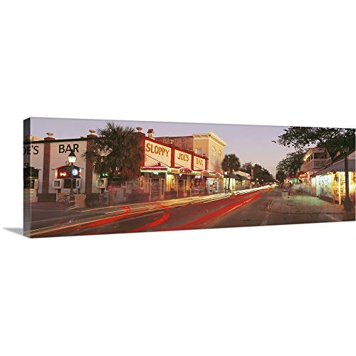 (GREATBIGCANVAS Gallery-Wrapped Canvas Entitled Florida, Key West, Duval Street, Sloppy Joe's Bar Illuminated at Night by 90