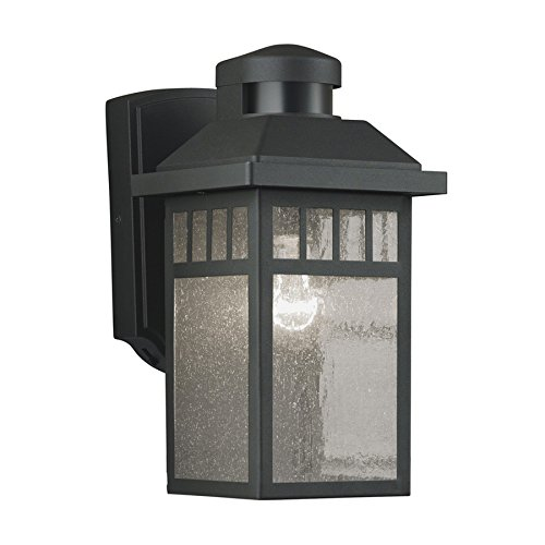 Black Motion Activated Outdoor Wall Light ()