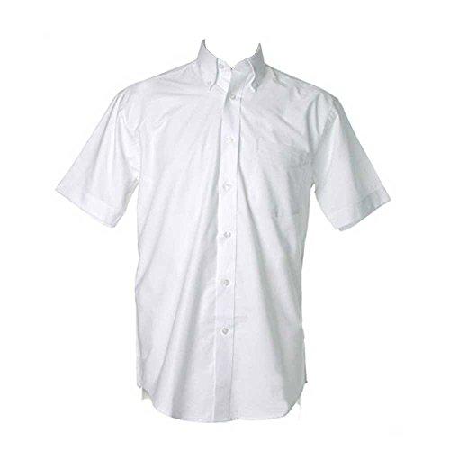 Kustom Kit Mens Workwear Oxford Short Sleeve Shirt White