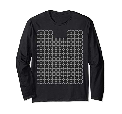 Chainmail Armor Knight Costume Halloween DIY Kids Crusader Long Sleeve T-Shirt ()