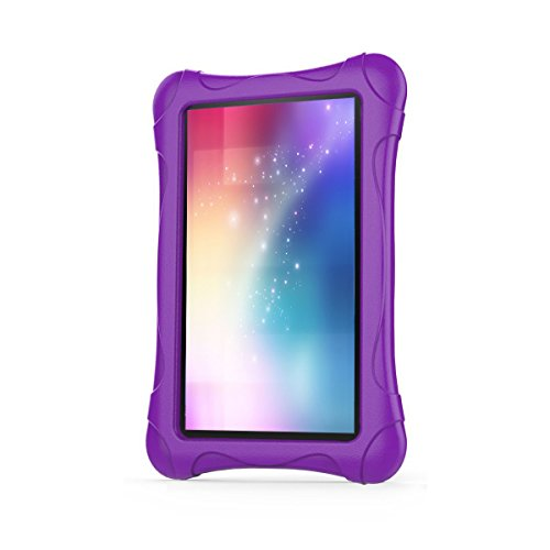 Kids Case for Fire 7 Tablet (7th Generation, 2017 Release), LTROP EVA Super Protective Fire 7 Case for Kids, Anti-Slip Light Weight Shock-Proof 2017 New Fire 7 Tablet Case – Purple Photo #2