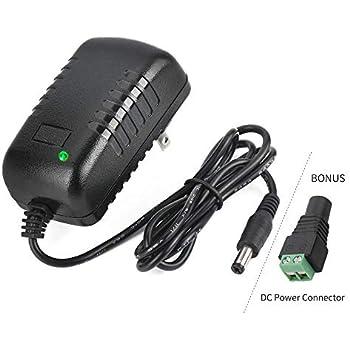 Amazon.com: AC Power Adapter 120V, 240V / 12V-1A / 5.5mm-2.1 ...