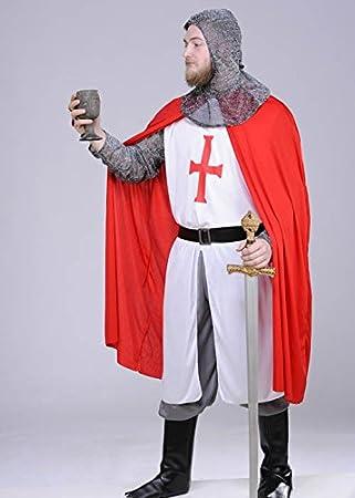 Traje de Caballero Templario Medieval Adulto Medium (37-40