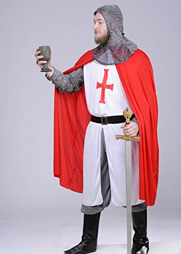 Traje de Caballero Templario Medieval Adulto Large (42-44 ...