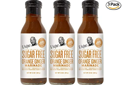 G Hughes Sugar Free Orange Ginger Marinade 13 oz (3 - Ginger Orange Sauce