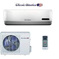 Classic America Wall Mount Mini Split Inverter Air Conditioner with Heat Pump, 24,000 BTU 24000 BTU (2 Ton), 15 SEER 210-220 VAC, Full Set