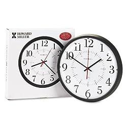 Alton Auto Daylight Savings Wall Clock, 14, Black, Sold as 1 Each