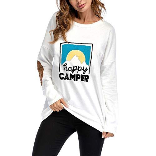 False Maglietta Maglia Camicetta Camicia Fit Suede Shirt Manica 3 Lunga Tops T Casuale Loose Bianco Tunica Donna Eleganti xn76WBHBw