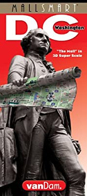 StreetSmart Washington DC by VanDam - City Street Map of Washington DC with special National Mall detail - Laminated folding pocket size city travel guide and Metro map