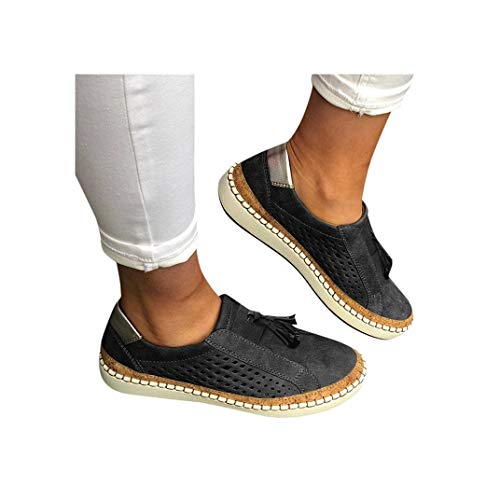 - Women's Casual Shoes Slip On Outdoor Sneakers Fashion Comfy Flat Shoes Hollow-Out Round Toe Board Shoes