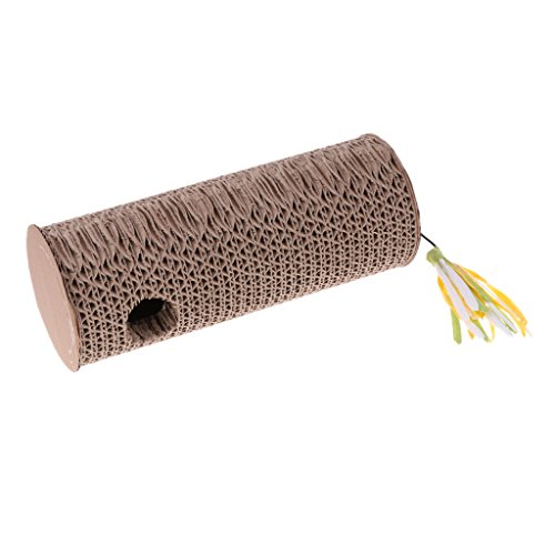 Baosity Corrugated Paper Cat Scratch Post Cat Kitten Interactive Toy with Free Catnip