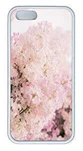 iPhone 5S Customized Unique Landscape Flowers Pink Lilac New Fashion TPU White iPhone 5/5S Cases