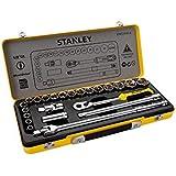 "Stanley Stmt74184-8 1/2"" Socket Set In Metal Tin - 24 Pieces"