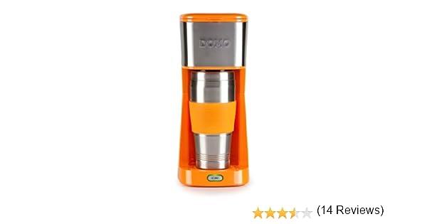 Domo DO439K - Cafetera (Independiente, Drip coffee maker, De café molido, Naranja, Acero inoxidable, Acero inoxidable, Café): Amazon.es: Hogar