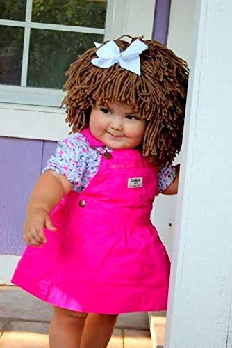 Cabbage Patch Hat for Kids Yarn Wig Halloween Costume]()