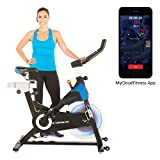 Exerpeutic LX 8.5 Indoor Cycling Exercise Bike with Bluetooth Smart Technology