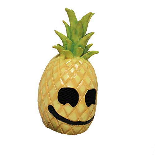 (Latex Pineapple Face Fruit Head Mask Costume Props Halloween Mask)