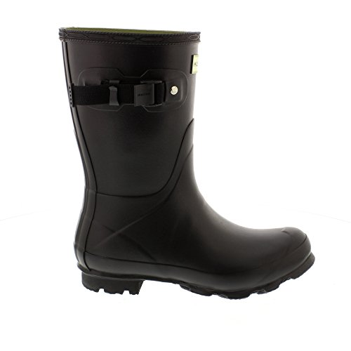 Hunter Womens Norris Field Short Rain Boots BLACK k1P0xa3