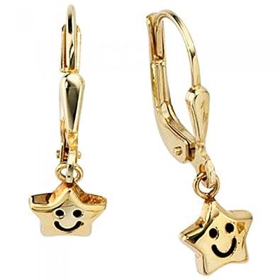Ohrschmuck Ohrhänger Sterne SAMMY 333 gelbgold gold