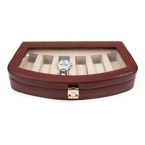 Bey Berk Time Factory AJ-BB520BRW Leather 6 Watch Case wi...